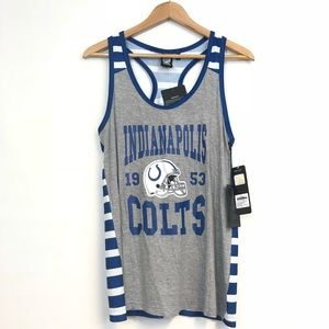 NFL Indianapolis Colts Womens Large tank top blue